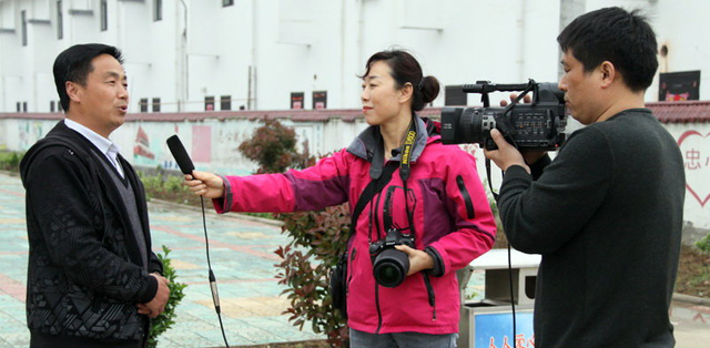 济南记者采访