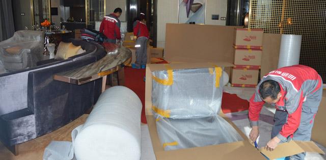 搬家對不同的物品使用不同的打包方式